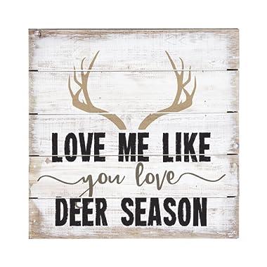 Sincere Surroundings PET13258 Deer Season - 8 x 8, White
