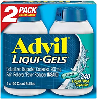 Advil Liqui-Gels (240 Count) Pain Reliever/Fever Reducer Liquid Filled Capsule, 200mg Ibuprofen, 240 Count