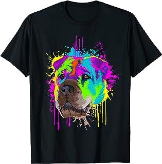 Splash Art Shar Pei Propriétaire D'un Chien Cadeau Chiens T-Shirt