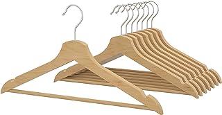 IKEA(イケア) BUMERANG/ブメラング 木製無垢材洋服ハンガー 肩部分凹み スーツ・ジャケット・キャミソール向け (2セット(16本), ナチュラル)