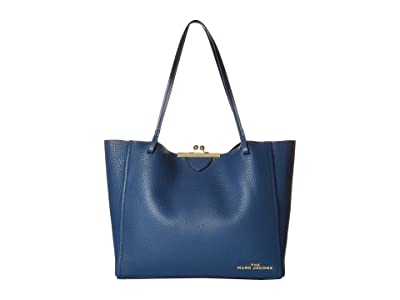 Marc Jacobs The Kisslock Tote (Blue Sea) Handbags
