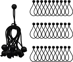 Ball Bungee Cords ValueHall Elastic String Canopy Tarp 30 Pack 5-inch Tie Down Straps Tent Fix Rope for Camping Tarp Cargo...