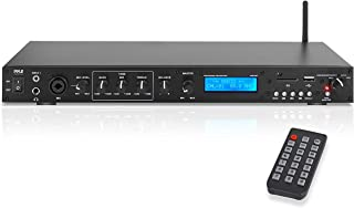 Pyle Rack Mount Studio Pre-Amplifier - Audio Receiver System w/Digital LCD Display Bluetooth FM Radio Recording Mode Remot...