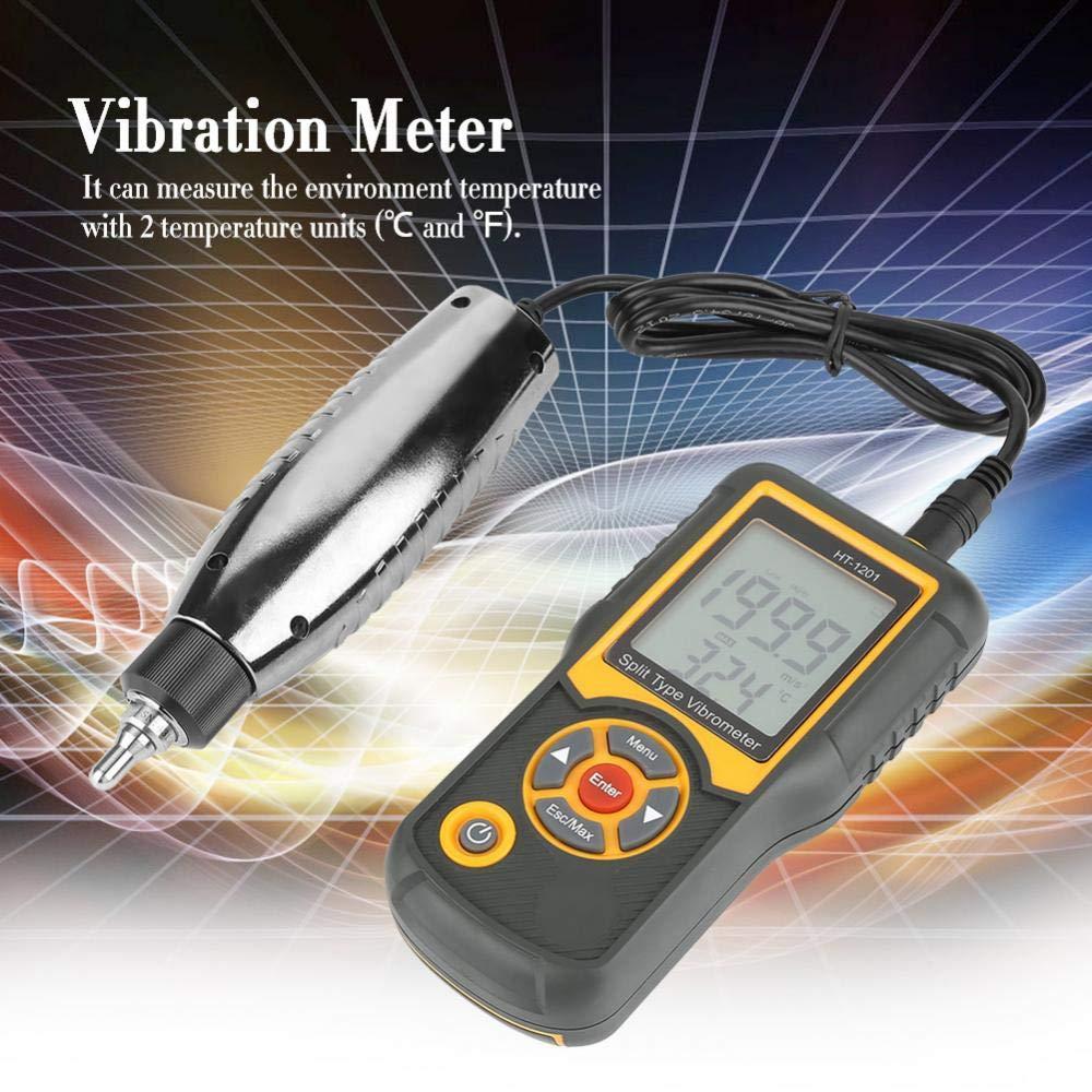 Comprobador de vibración, medidor de vibración digital, medidor de vibración digital con sonda y mango, para fabricación mecánica, potencia eléctrica, ingeniería química.