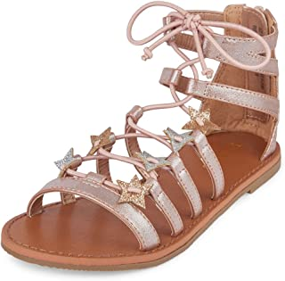 22c72c4eb0f The Children s Place Girls  BG Star Candy GL Sandal Rose Gold Youth 4 Youth  US