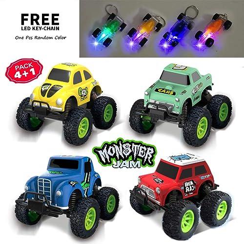 b033732a569ae Die-Cast Metal Model Cars Toy 4x4 Off Road Assorted Monster Jam Trucks Big  Wheels