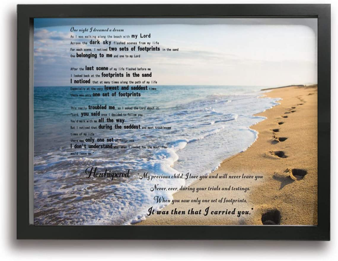 MFHS Footprints in The free Under blast sales Sand Canvas Picture Print Frames Photo 12