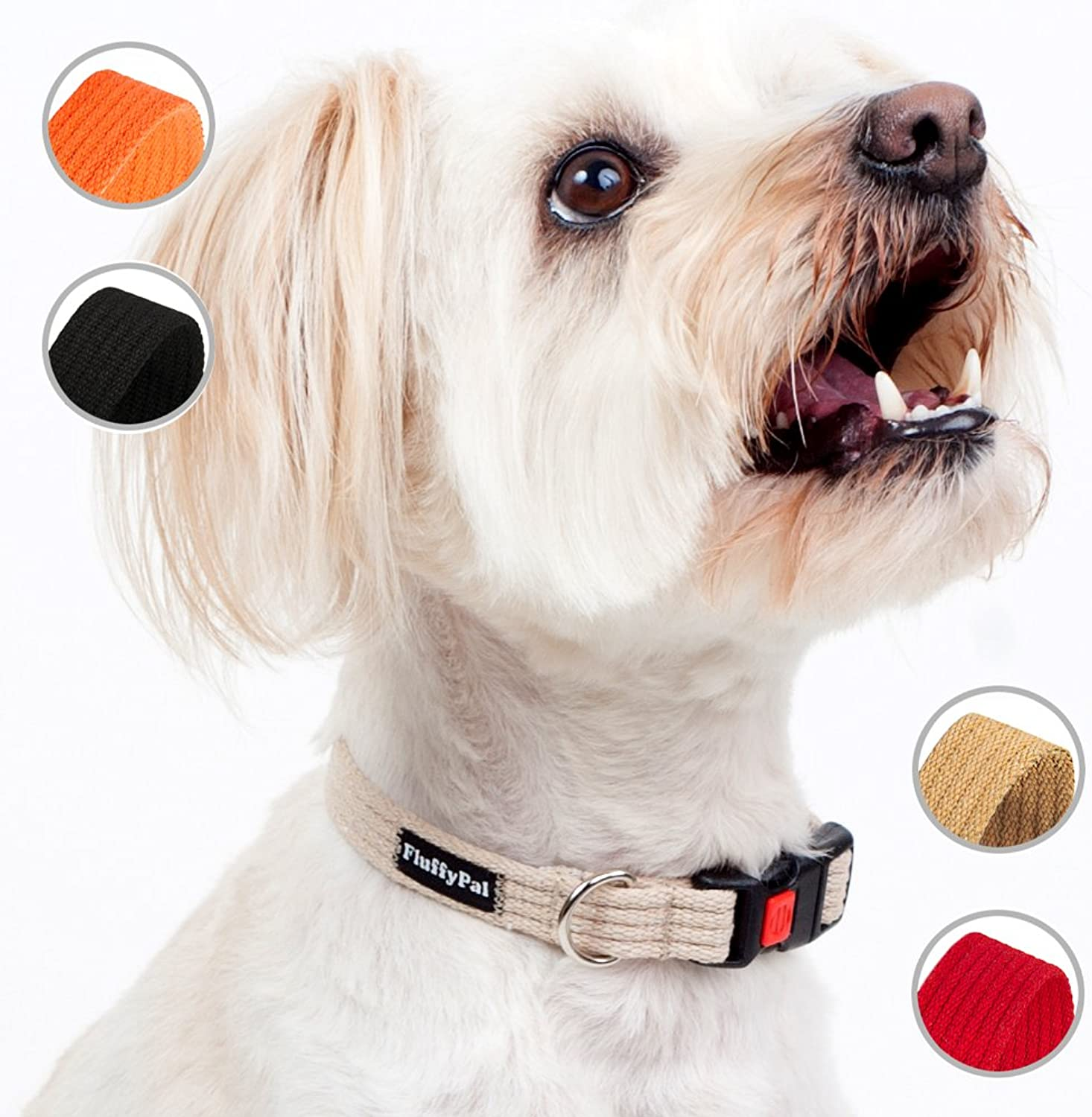 FluffyPal Cotton Dog Collar for Large Dogs  Sturdy, Durable and More Importantly Secure Adjustable Pet Collar  Secure Your Dog, Walk with Confidence and Make Your Dog Stand Out at The Dog Park