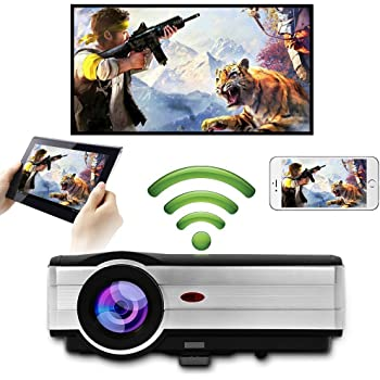 Proyector de video WiFi inalámbrico LED, WXGA HD LCD Proyectores ...