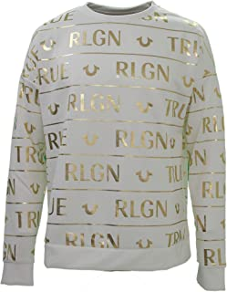 True Religion Allover Print White Sweatshirt