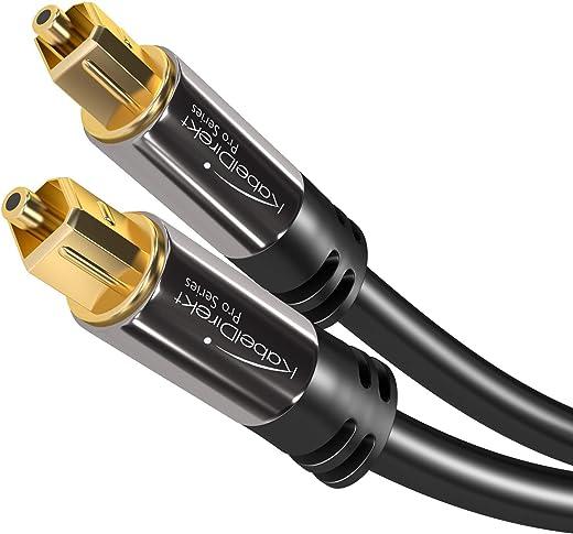 KabelDirekt – Optisches Kabel/Toslink Kabel – 0,5m (optisches Digitalkabel Toslink auf Toslink, Audiokabel zur Verbindung von Soundbar,…