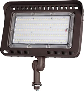 LEONLITE LED Outdoor Flood Light with Knuckle, 100W (1000W Eqv.) 11,000lm Super Bright, ETL & DLC Listed Wall Washer Security Light, CRI90+, IP65 Waterproof, 5000K for Yard/Parking Lot
