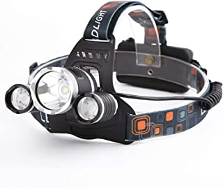 Heligen COB LED Impermeable S/úper Brillante 6 Modos 100LM linterna de cabeza militar para Ciclismo Monta/ñismo Linterna Frontal USB Recargable Incluida Bater/ía