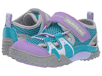 Tsukihoshi Kids Ibiza 2 (Toddler/Little Kid) (Turquoise/Lavender) Girls Shoes