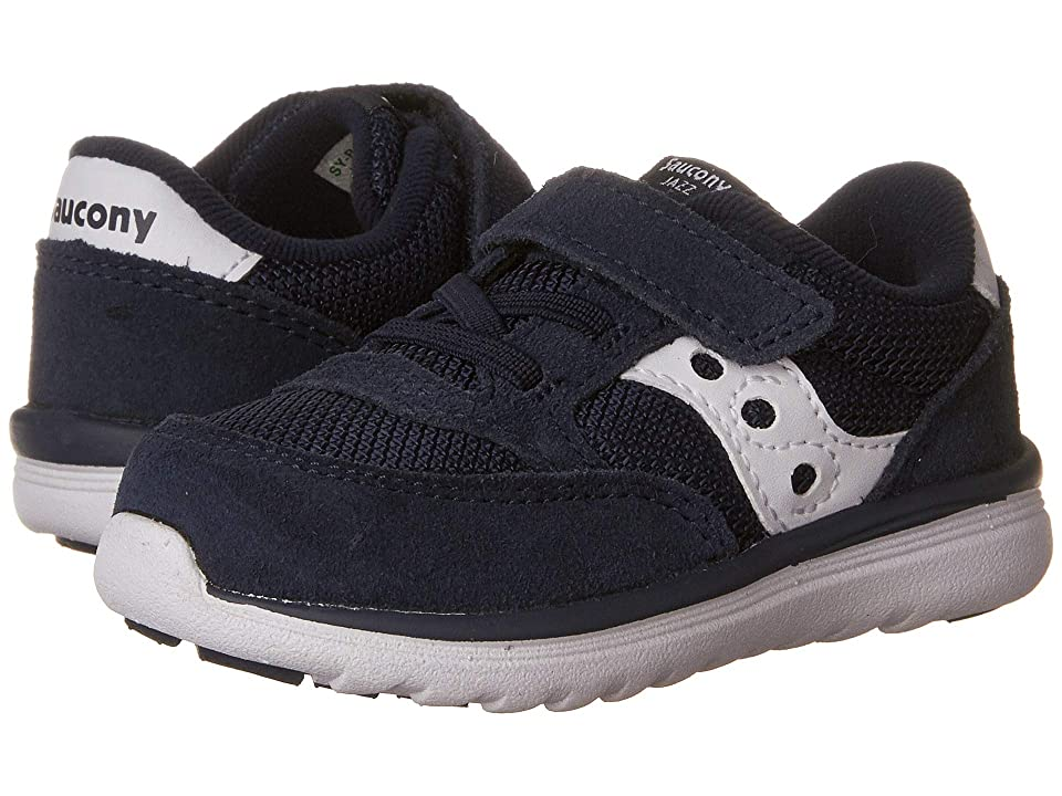 Saucony Kids Originals Jazz Lite (Toddler/Little Kid) (Navy/White) Kids Shoes