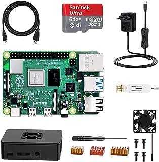 NinkBox Raspberry Pi 4 Modelo B, Tarjeta Micro SD de 4GB RAM+64GB, Versión Actualizada de Raspberry pi 3b+, con Micro HDM...