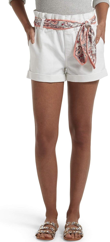 HUE Women's Paperbag Ultra Soft Denim High Waist Shorts