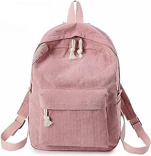 KFEK Cord Rucksack Schultasche, Persönlichkeit Cord College Style Rucksack Damen Accessoires Handtaschen Rucksack Daypack,...