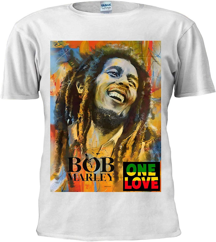 Bob Marley One Love Camiseta Jamaicana Reggae Tee Hombres Mujeres Unisex Camiseta