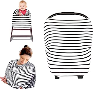 Kyapoo Nursing Breastfeeding Cover, Multi Use Carseat Cover and Scarf, Baby Car Seat Cover, Canopy Infinity Stretchy Shawl