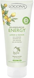 LOGONA Naturkosmetik Pflegedusche Energy, Belebende Kombination von Zitrone & Ingwer, Frischer Duft aktiviert die Sinne, Vegan, 200ml