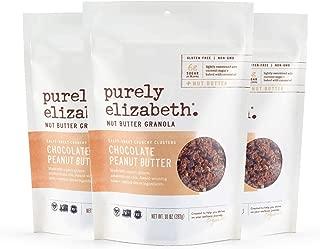 purely elizabeth Non GMO Organic Chocolate Sea Salt Peanut Butter Granola, 10 Ounce (pack of 3)