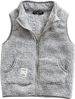 Girls Fleece Vest Warm Winter Sleeveless Jacket Zipper Up Waistcoat 2-8T