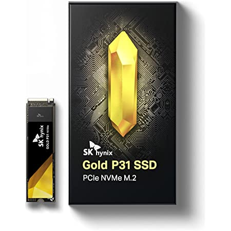 SK hynix Gold P31 1TB PCIe NVMe Gen3 M.2 2280 Internal SSD | Up to 3500MB/S | Compact M.2 SSD Form Factor SK hynix SSD | Internal Solid State Drive with 128-Layer NAND Flash
