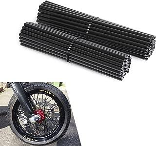 NICECNC Black Spoke Wraps Covers for 17-21 Inches Wheel Dirt Bikes MX Enduro Supermoto