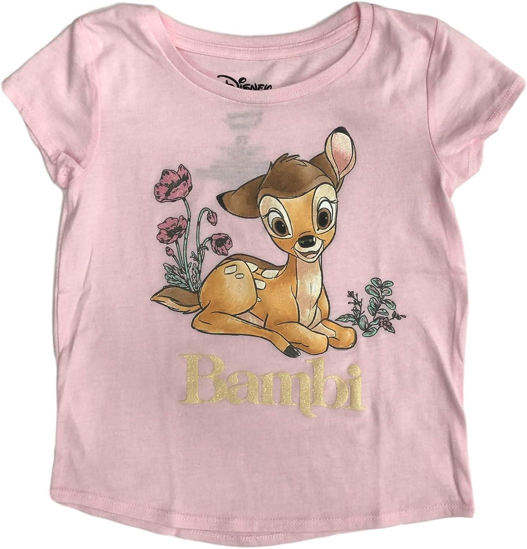 Jumping Beans Disney Toddler Girls Pink Sparkle Bambi Tee Shirt T-Shirt