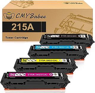 CMYBabee Compatible Toner Cartridges Replacement for HP 215A W2310A W2311A W2312A W2313A for HP Color Laserjet Pro MFP M18...