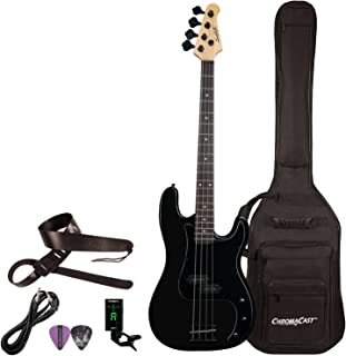 Sawtooth 4 String EP Series Electric Bass Guitar with Gig Bag & Accessories, Satin w/Black Pickguard, Right Handed (ST-PB-STNBKB-KIT-1