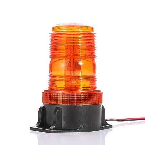 Gledto Automotive Emergency Strobe Lights - 30 LEDs 15W Waterproof Hazard Warning Flash Light for Car, Truck, Amber Yellow