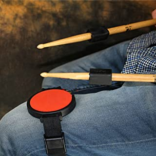 Silent Leg Drum Practice Pad With Strap,with 2PCS Drumstick Weight Addition