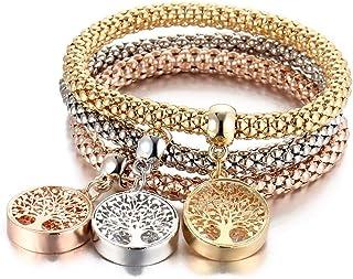 Set of 3 women bracelet with Tree of life pendant