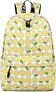 MatoRino Fashion Lightweight College School Backpack for Girls,Cute Bookbag and Traveling Backpack,Fits Up to 15 inch Laptop.(Lemon)