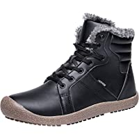 JIASUQI Outdoor Waterproof Ankle Winter Warm Fur Snow Boots