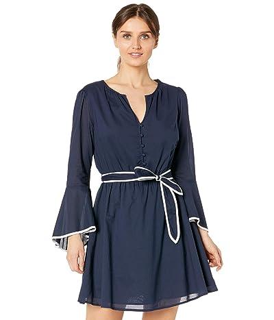 MICHAEL Michael Kors Petite Cotton Lawn Flounce Sleeve Dress Women