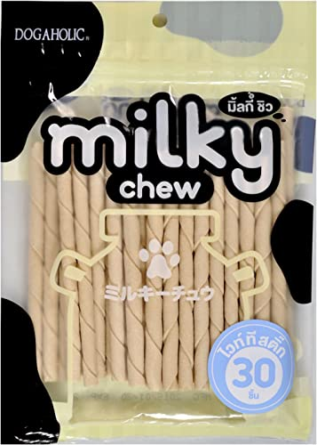 Dogaholic Milky Chews Sticks Dog Treat (30 Pieces)
