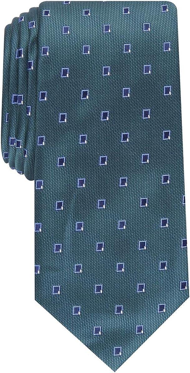 Alfani Mens Camino Neat Silk Blend Business Neck Tie