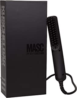 KUSCHELBÄR Heated Beard Straightener Brush from MASC by Jeff Chastain - Straighten Both Beard & Hair - Compact & Dual Voltage Comb For Travel & Home Use