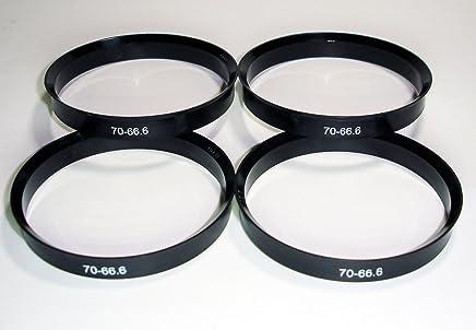 Centradores Lot de 4/adaptateurs pour jantes en aluminium 70,4/-/66,6 mm