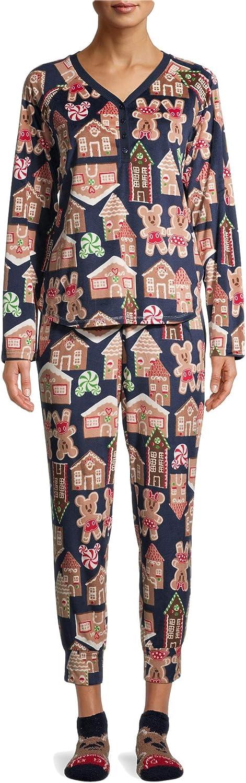 Christmas Gingerbread Mickey Blue Cove 市販 数量限定アウトレット最安価格 Set 3 Piece Sleep Pajama