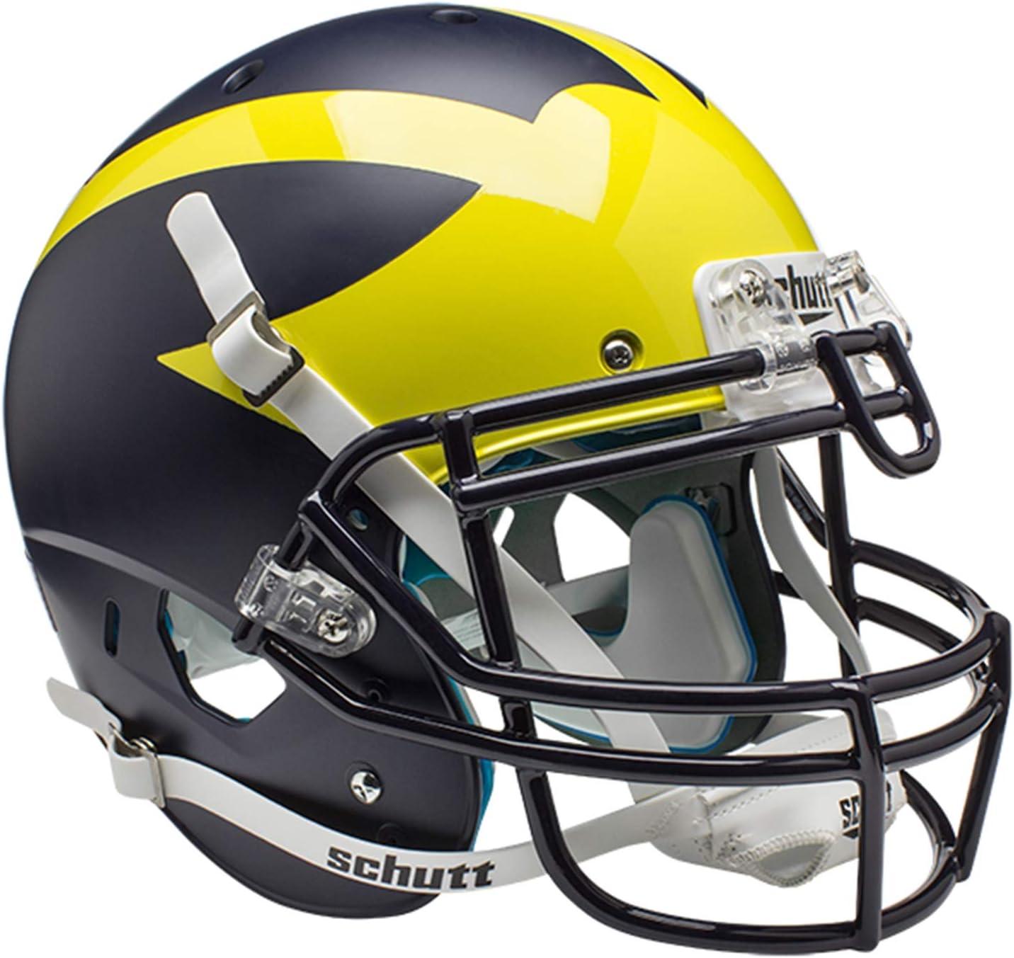 Schutt NCAA Unisex NCAA Michigan Wolverines On-Field Authentic XP Football Helmet