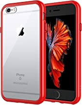 JETech Case for Apple iPhone 6 Plus and iPhone 6s Plus 5.5-Inch, Shock-Absorption Bumper Cover, Anti-Scratch Clear Back, Red