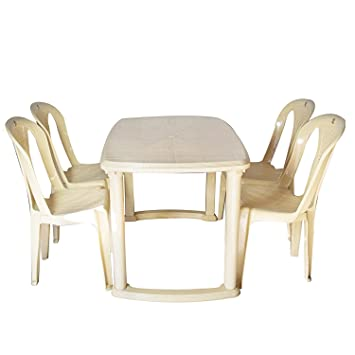 Cello Fevina Senator Four Seater Dining Table Set Beige Amazon In Home Kitchen