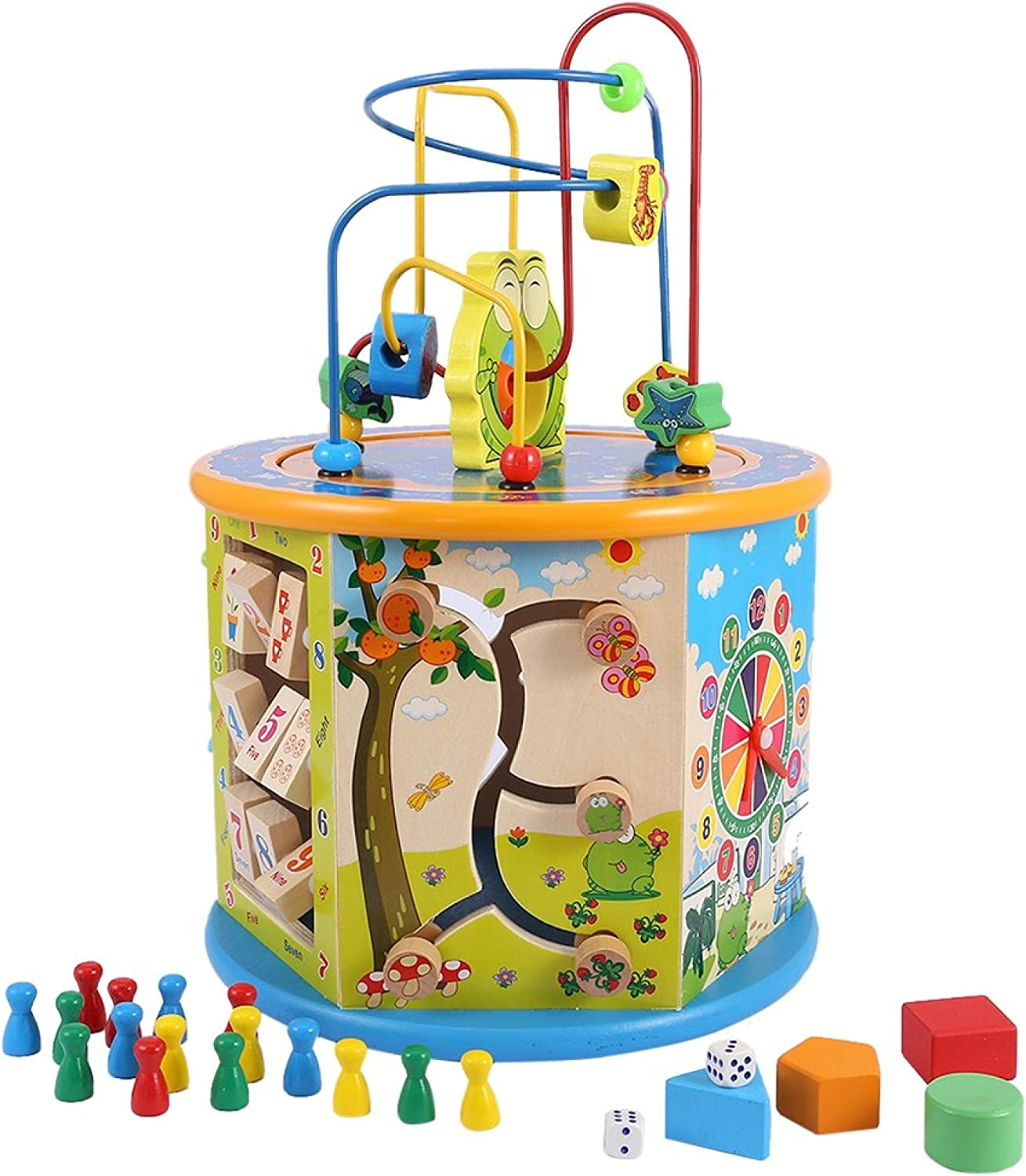 Tpouo Activity Box with Beaded C Educational Maze Finally resale start Multi-Function 35% OFF
