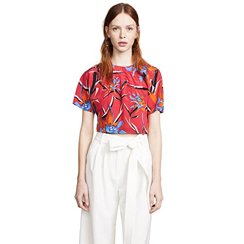 7f620cfa Diane von Furstenberg Women's Pin Tuck Crop Top