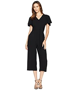 Cropped Jumpsuit with Self-Tie Belt