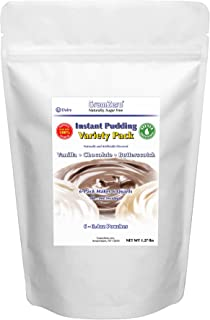 GramZero Variety Pack Pudding Mix, 6/1 QT Yield (48 - 4 oz servings), Stevia Sweetened, SUGAR FREE